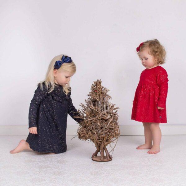 IMG 7201 1 | AW19 Rød julekjole body med glimmerprint