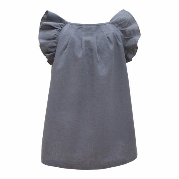 Sommerkjole til piger gråblå
