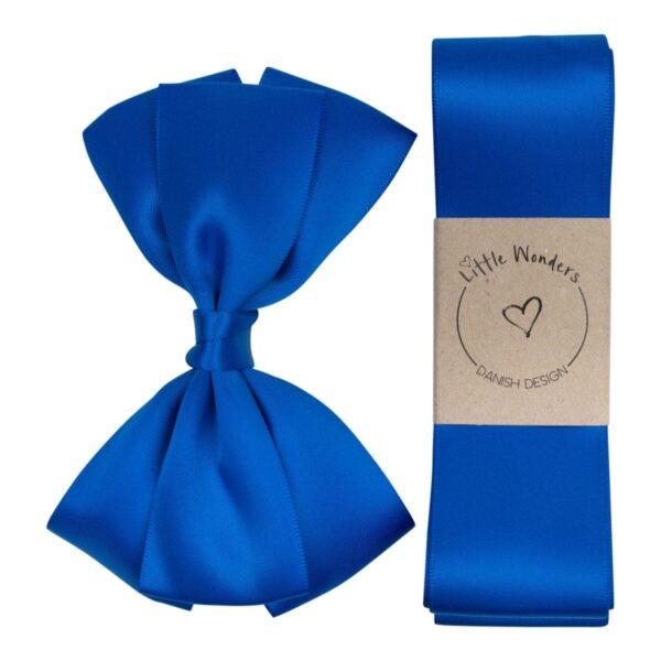 Babtism Ribbon grosgrain cobalt | Dåbs sæt til drenge i kongeblå silke