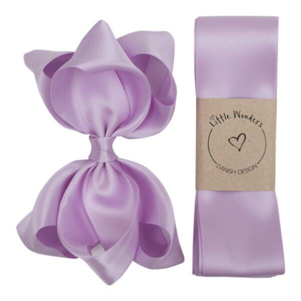 Babtism Ribbon silk Light Orchid | Dåbs sæt til piger i Light Orchid silke