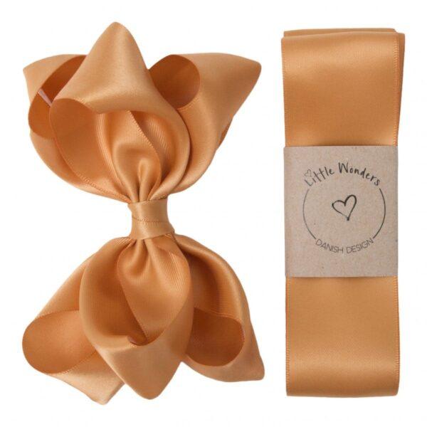 Babtism Ribbon Girls 690 | Dåbs sæt til piger i karry farvet silke