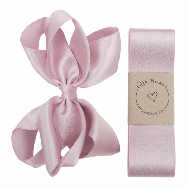BabtismG Pearl Pink 123   Glitter dåbs sæt til piger i lyserødt satin