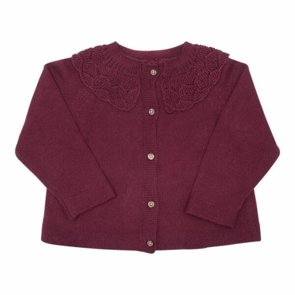 Bordoux knit | AW19 Bordoux strik cardigan med fin krave fra Little Wonders