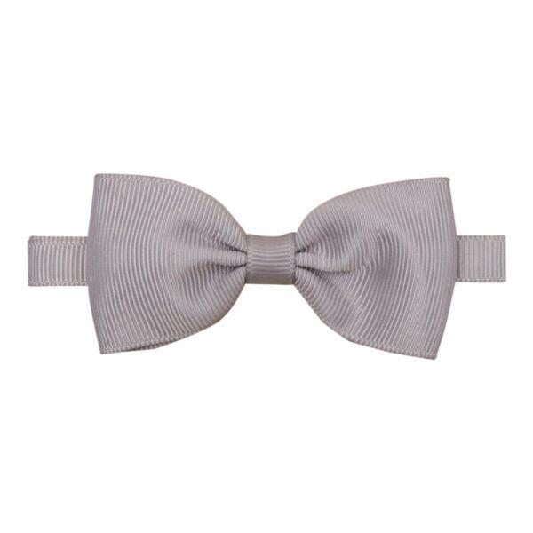 Bowtie Grosgrain Silver 012 | Lille grå butterfly i grosgrain til børn