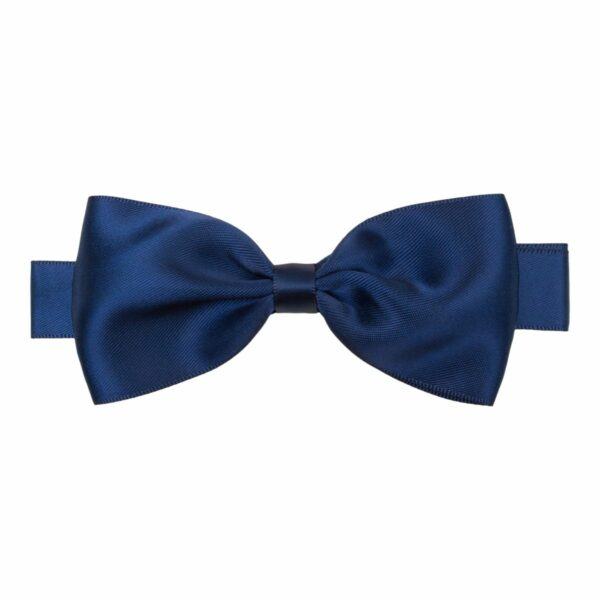 Bowtie Silk Navy 370 | Stor navy blå butterfly i satin til større børn