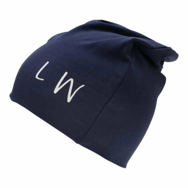 Boy beanie navy | Beanie hue til drenge i navy med LW logo