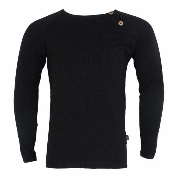 Boys T shirt black | BA Sort bluse til drenge med albue lapper
