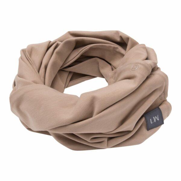 Boys Tube scarf chestnut | Chestnut brunt tube tørklæde med knapper til drenge