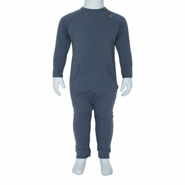 Boys bodysuit grey front | Heldragt  til drenge i koksgrå fra Little Wonders