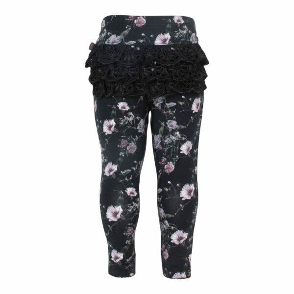 CR1 7321 Edit | AW19 Ella leggings med blonde numse i Black Flower Print