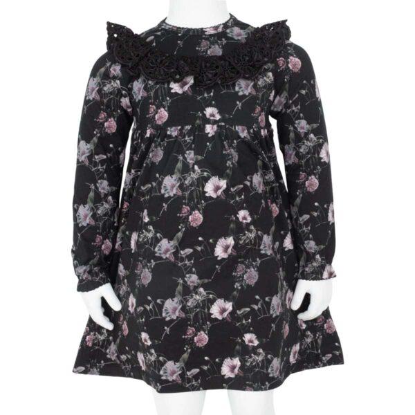 CR1 7481 Edit | AW19 Ella kjole i black flowerprint