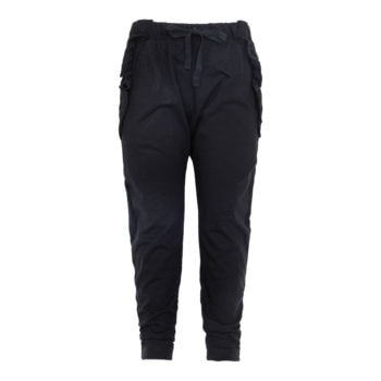 Saga Teen Baggy Pants i sort jersey
