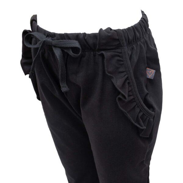 Saga Teen Baggy Pants i sort jersey