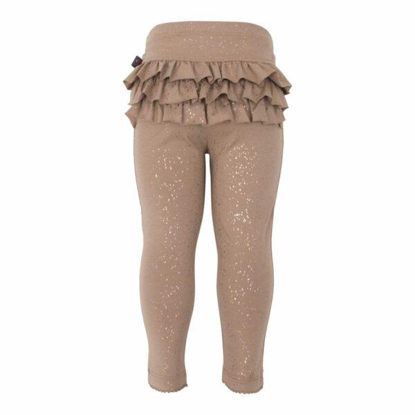Chestnut Frill leggtings | Chestnut brune flæse leggings med glimmerprint