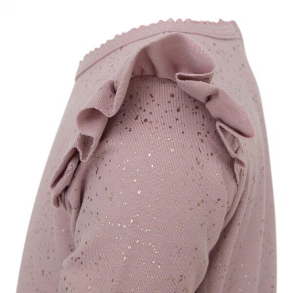 DR Bodysuit side 1 | Bianca Heldragt i Chestnut med glitter print