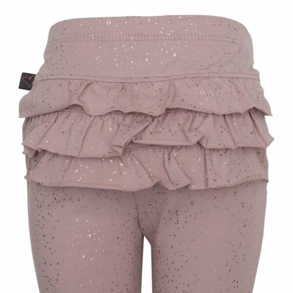 DR glitter frill leggings back 1 | AW19 Bordeaux flæse leggings til baby med glimmerprint