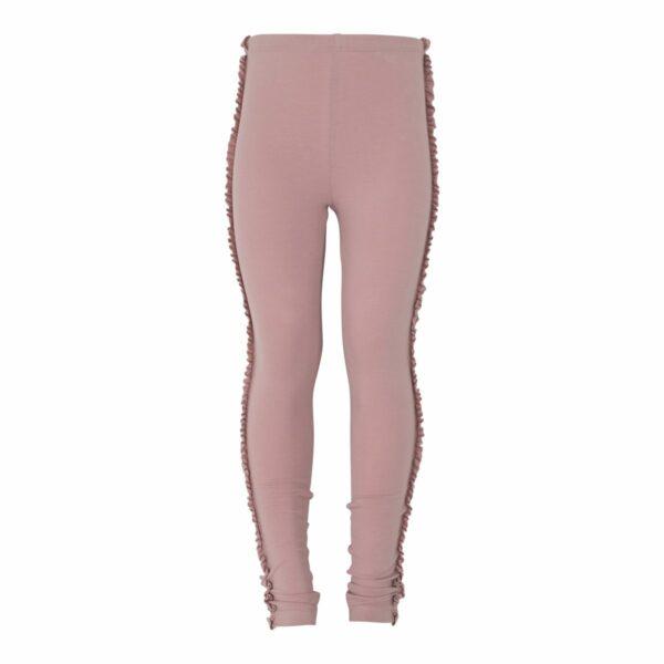 Dusty Rose Girls Frill leggings | Støvede rosa leggings med flæsekant til piger