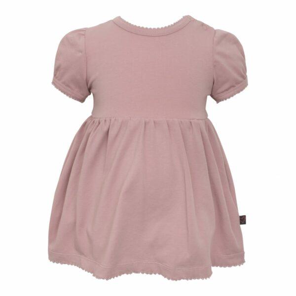 Kortærmet bodykjole støvet rosa