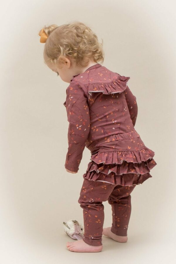 Ellie 9 | AW19 Brown flower print Athena flæse leggings