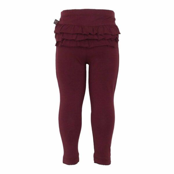 Frill leggings | AW19 Bordeaux leggings til baby med flæsenumse