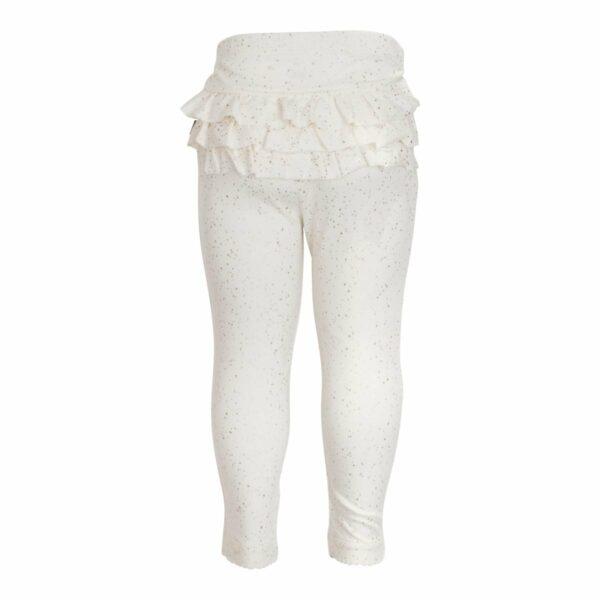 Frill leggings off white glitter   SS18 Off white flæseleggings til baby med glimmerprint