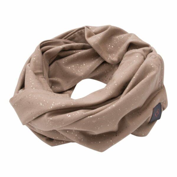 Girls Tubescarf Chestnut Glitter | Chestnut brunt tube tørklæde med glimmerprint til børn