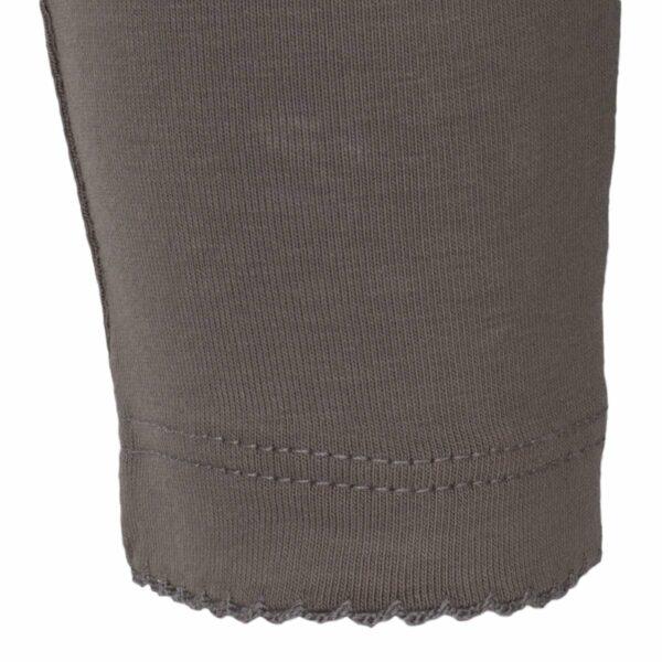 Grey | Koksgrå leggings til baby med flæsenumse