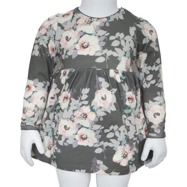 Grey Flower bodydress   SS18 Grey Flower Bodykjole fra Little Wonders