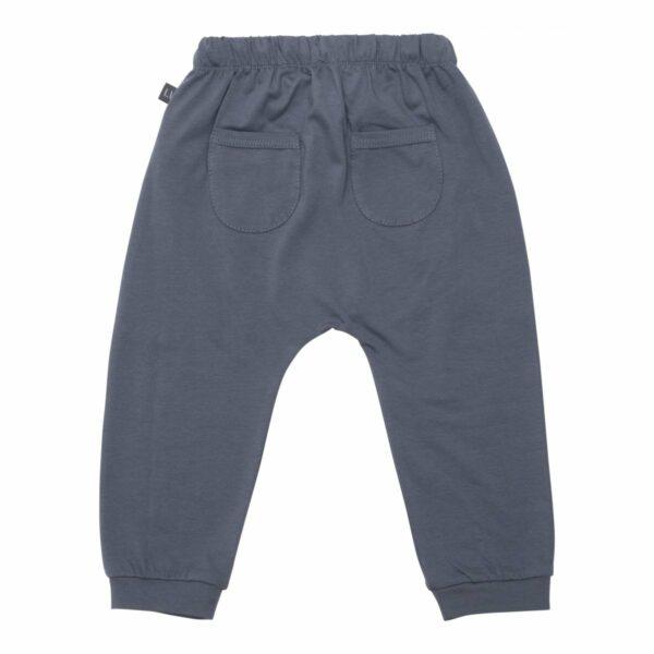 Grey baggy pants back   Koksgrå baggy bukser med lommer til drenge