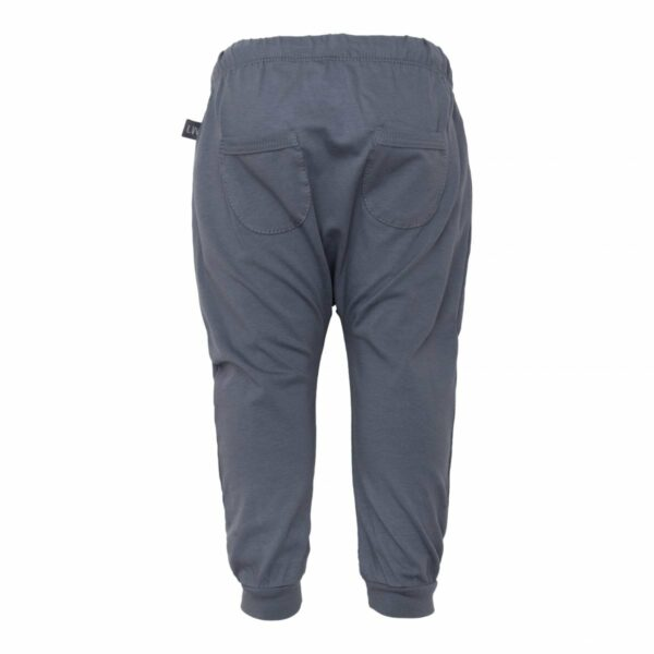 Grey baggy pants back | Sorte baggy bukser med lommer til drenge