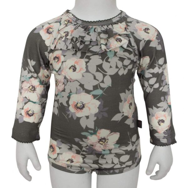 Body flæsehals grey flower