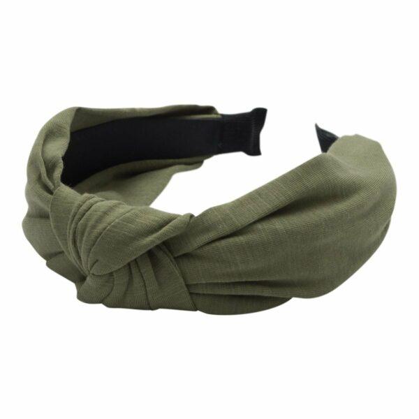 Headband Army Jersey | Hårbøjle med jersey stof i  army grøn fra Little Wonders