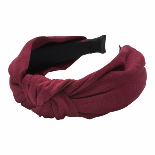 Headband Bordeaux Jersey | Hårbøjle med jersey stof i bordeaux fra Little Wonders