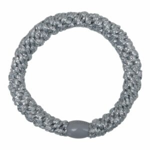 Sølv kraftig LW glitter hårelastik