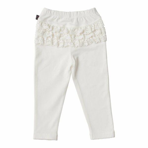 LW 6 2 | BA Off white leggings med blondenumse