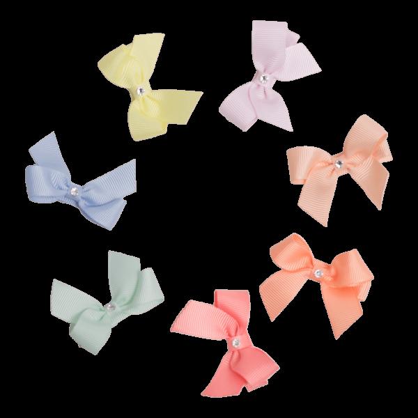 LW 6 Copy | ELVIRA - Sød lille 5 cm. sløjfe med swarovski krystal