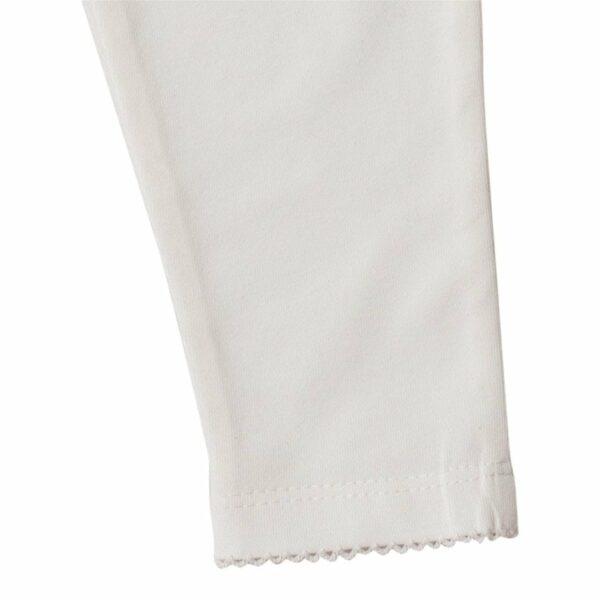 LW 9966 | BA Off white leggings med blondenumse
