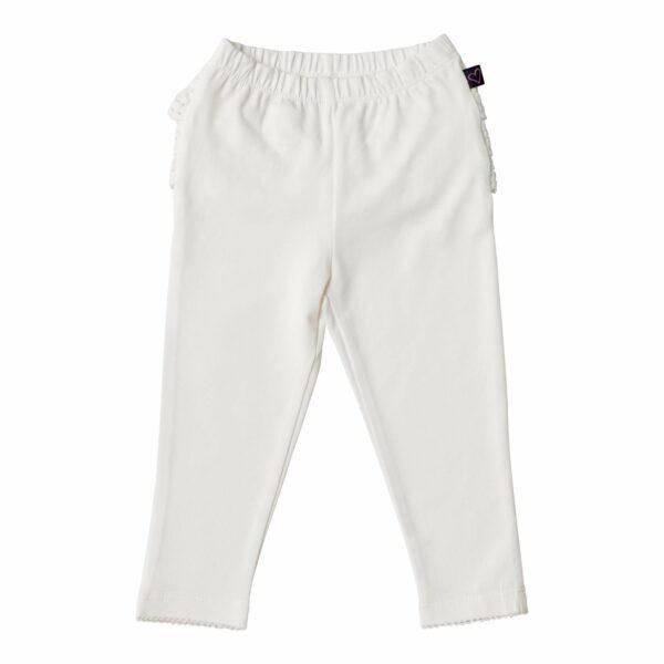 LW 9969 | BA Off white leggings med blondenumse