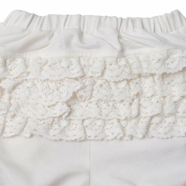 LW 9985 | BA Off white leggings med blondenumse