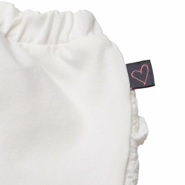 LW 9987 | BA Off white leggings med blondenumse