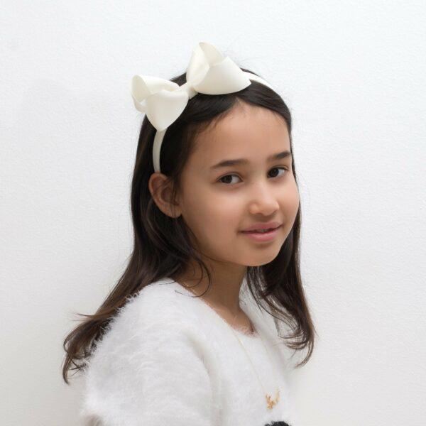 LW new 6 | Michelle - Hårbøjle med stor sløjfe i grosgrain - sommerfarver