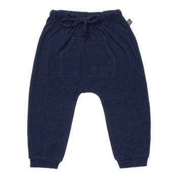 Navy Blå baggy bukser med lommer til drenge