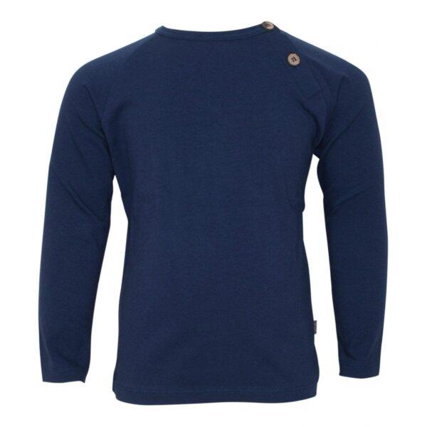 Navy blå bluse til drenge med albue lapper