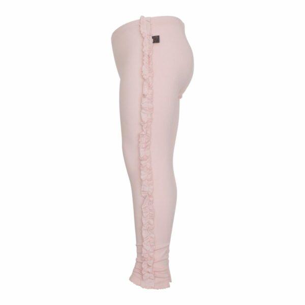Nude leggings with frills site | BA Nude leggings med flæsekant til piger