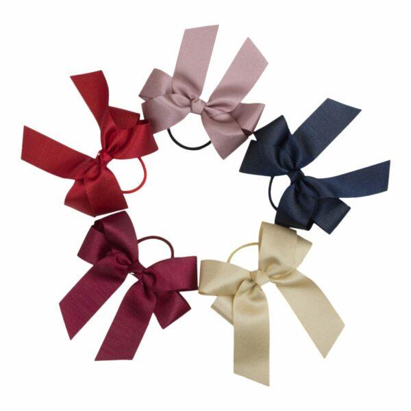 Nw Bow with elastic   Sløjfe Iris - Stor dobbelt glimmer sløjfe med elastik