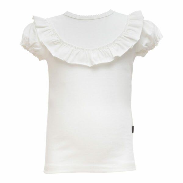 Of White frill T shirt Girls | SS19 Off White kortærmet bluse med flæsekant