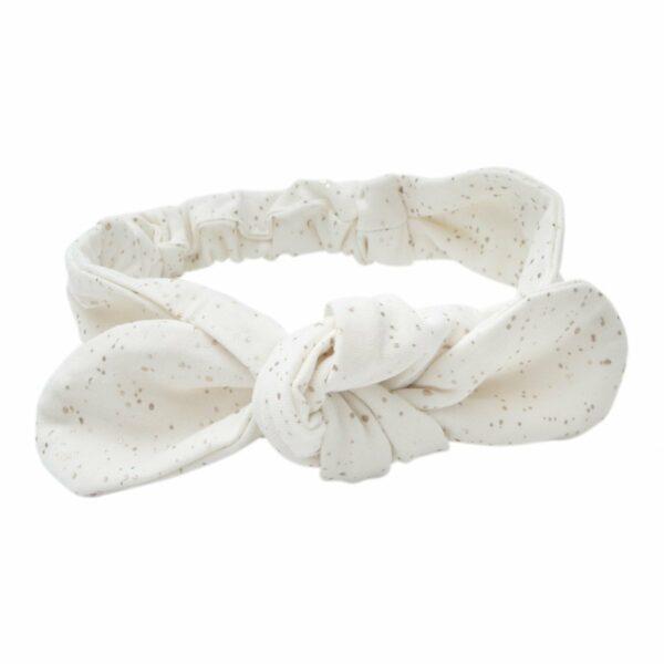 Off white glitter headband | BA Off white jersey hårbånd med glitterprint