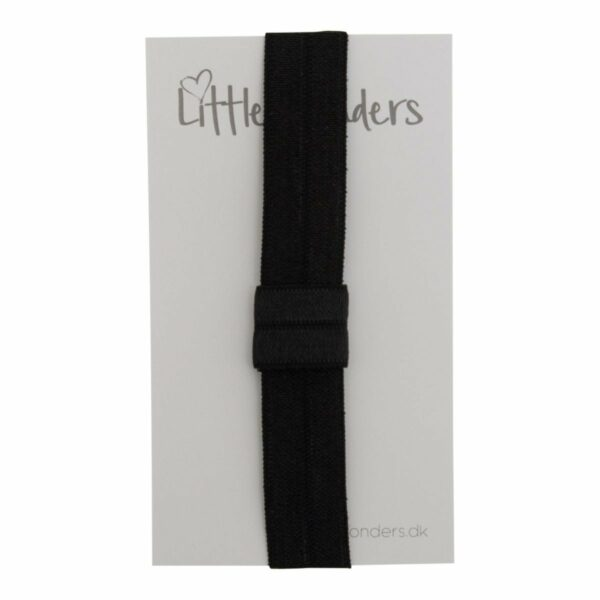 OliviaHvid 13 | Elastik hårbånd til sløjfer - Sort