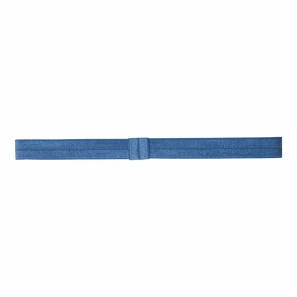 Olivia SmokeBlue363   Elastik hårbånd til sløjfer -Smoke Blå