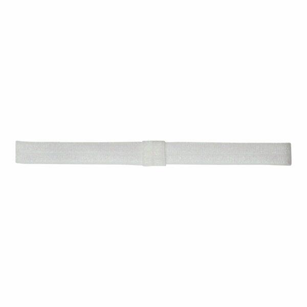 Olivia WhiteGlitter | Elastik hårbånd til sløjfer - Hvid glimmer
